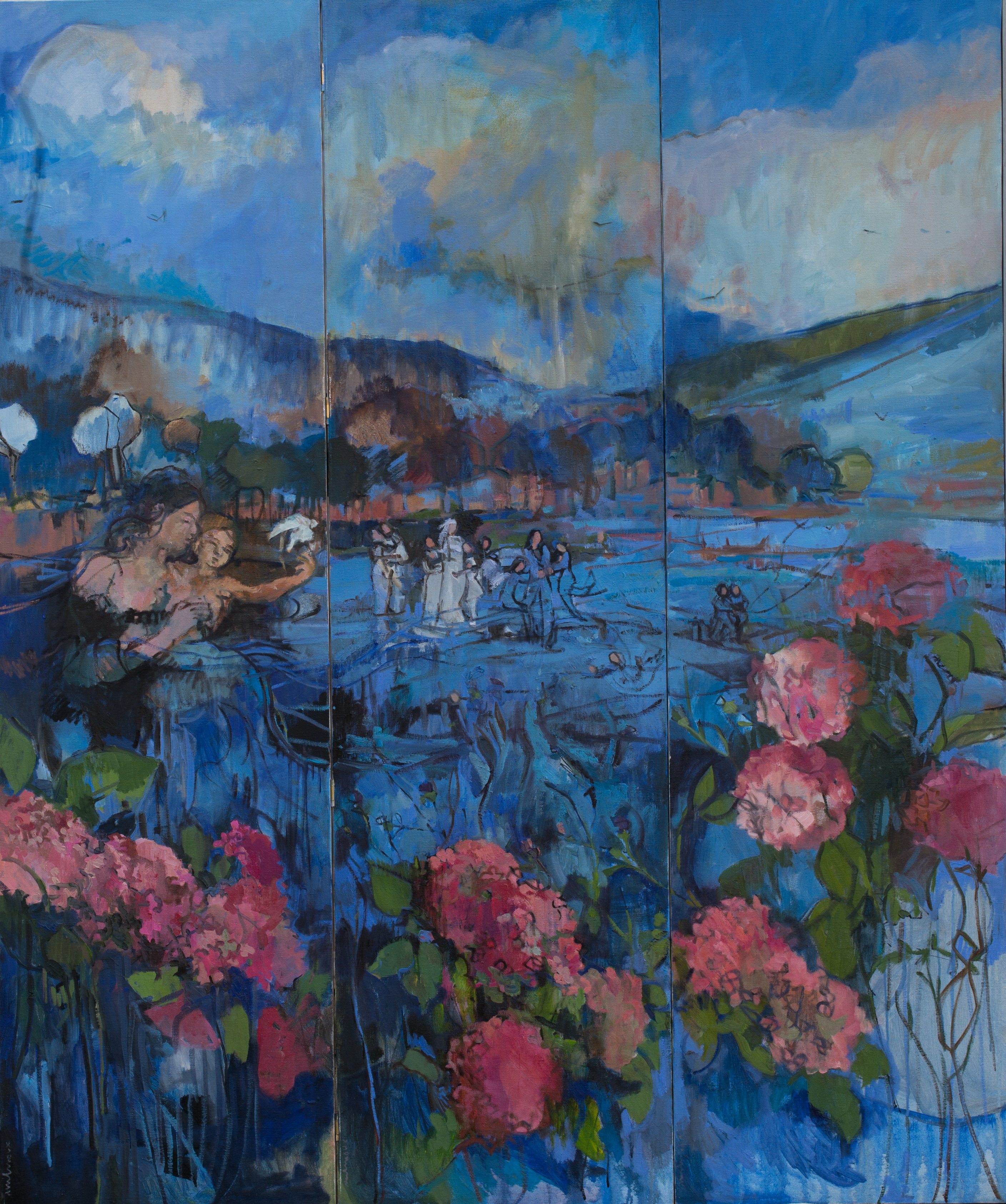 carole melmoux, may's weedind, oil on canevas, 150x180.jpg